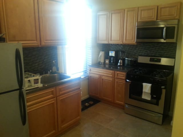 All brand new appliances in the kitchen.