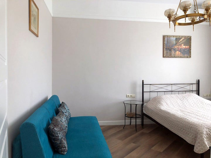 The cozy apartment on the Gorky street