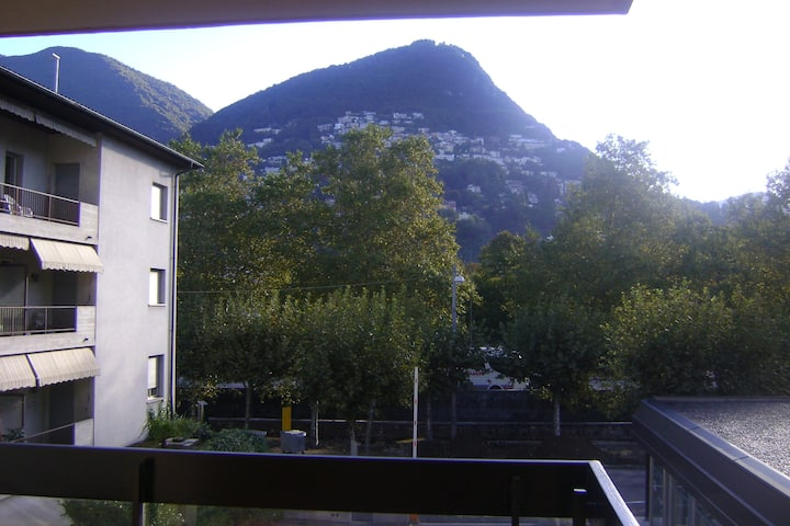 Bedroom for 2 persons and private bathroom,Lugano