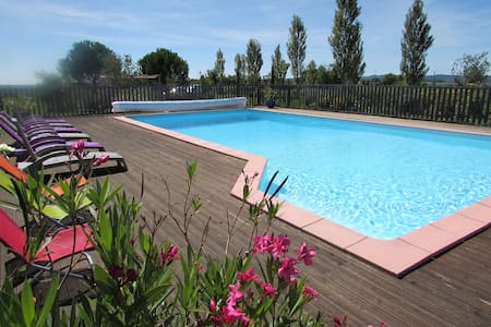 Gite of charm with swimming pool  - Lacapelle-Ségalar - Haus