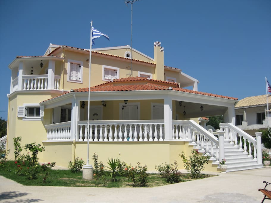 Front Left side of the Villa!
