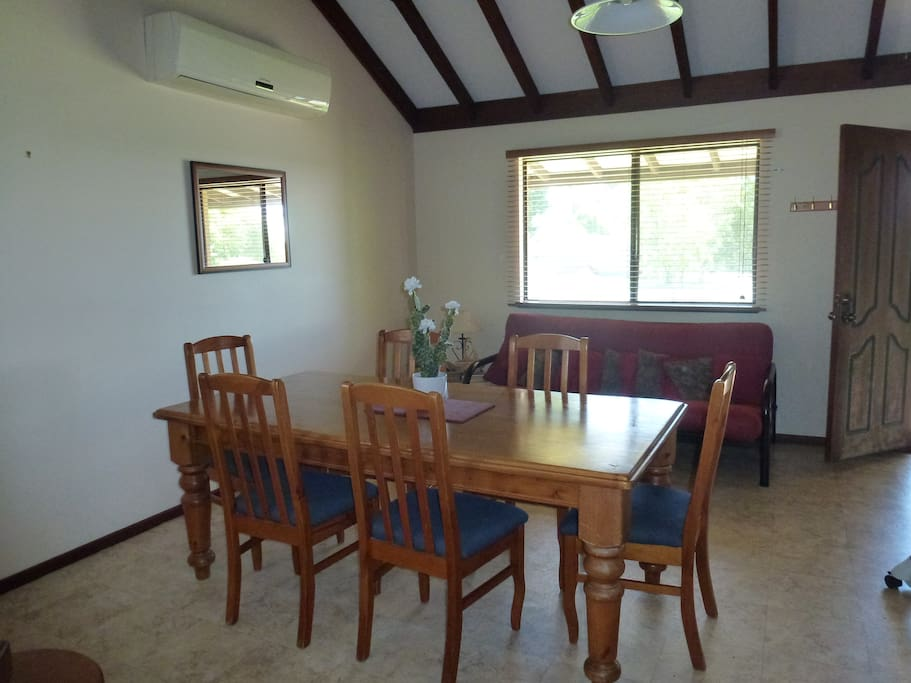 Dining Area - A/C - Include Futon (Folds to Double Bed)