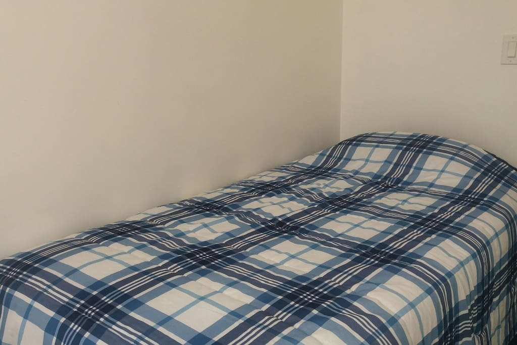 Clean and comfortable twin bed.  Larger beds are usually available also.