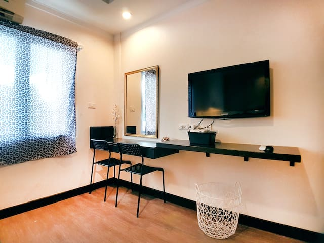 Dressing Table and Flat Screen TV