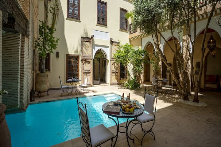 Yves Double or Triple Room Luxury Riad with Pool