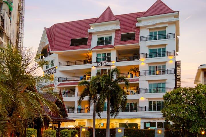 Smart and Cosy Studio at European house - Muang Pattaya - Kondominium
