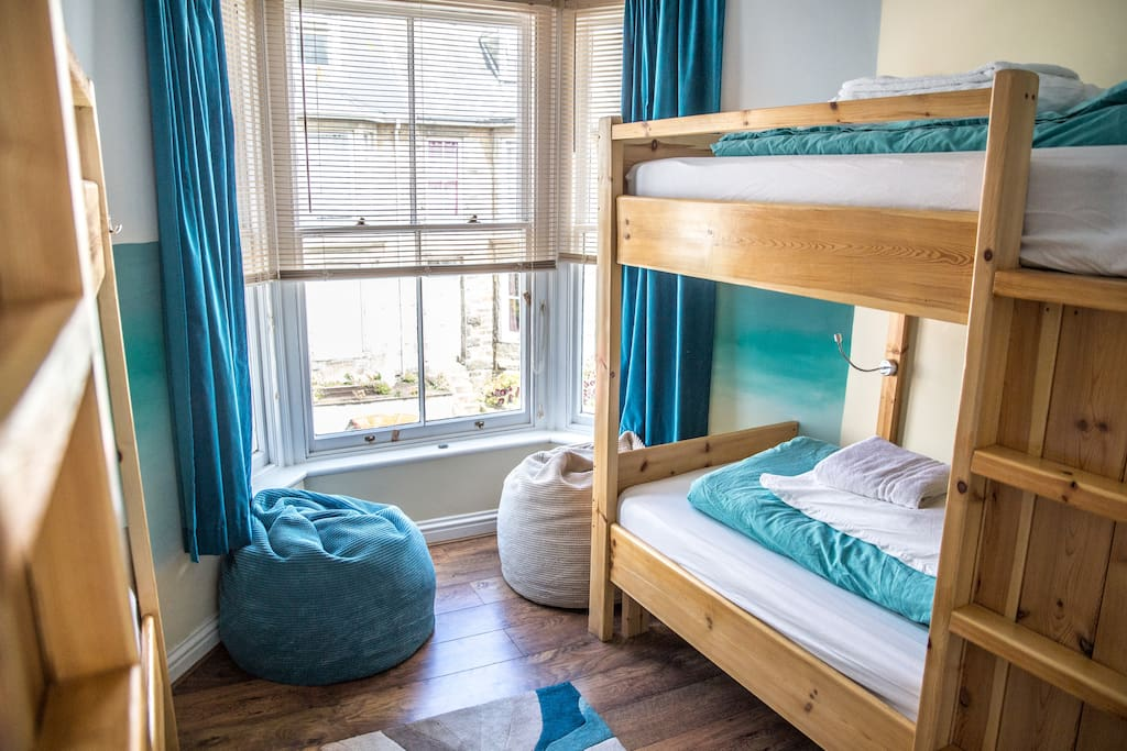 Beach Room, one of our lovely four bed dorms.