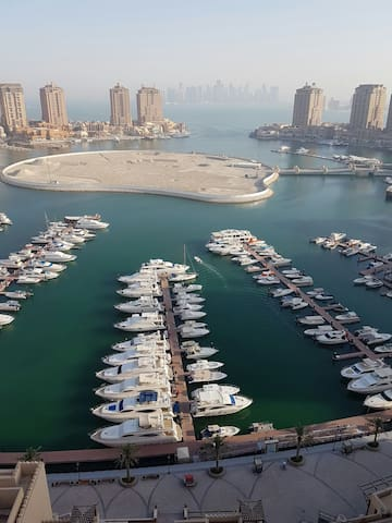 Iconic view studio in pearl qatar - Doha qatar - Apartment