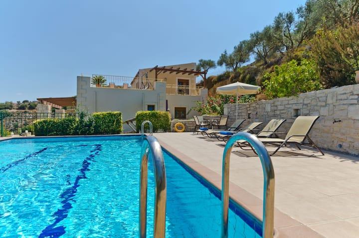 Villa with private pool, sea view & privacy.