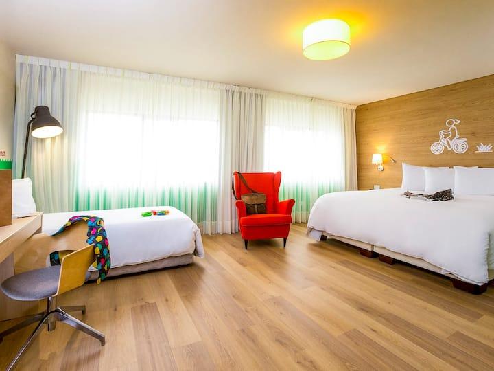 Habitación familiar con 3 camas