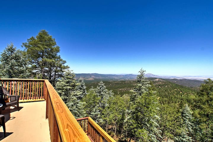 Spacious Cabin w/Deck, Mtn Views, Fire Pit & Grill