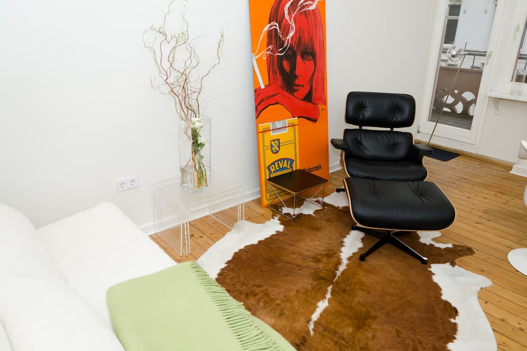 Living Room with Eames Lounge Chair