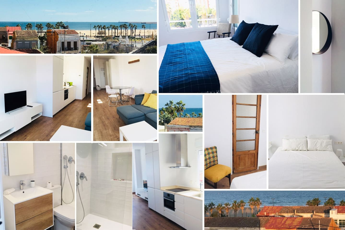 Beach flat fully renovated 2 mns walk from the beach