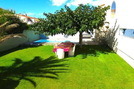Villa front de mer avec piscine et face à la plage - Le Barcarès