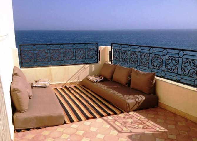 Grande Maison Surf Taghazout vue mer 4 chambres ! - Taghazout - Casa
