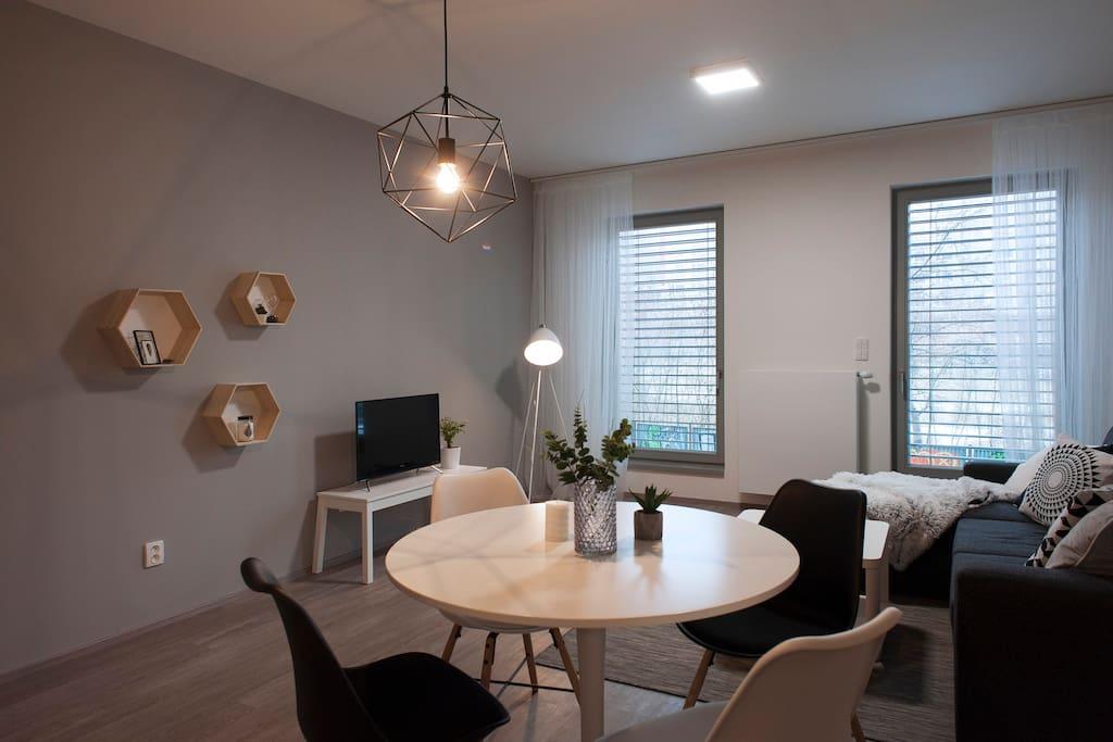 Living room with kitchenLiving room with kitchen