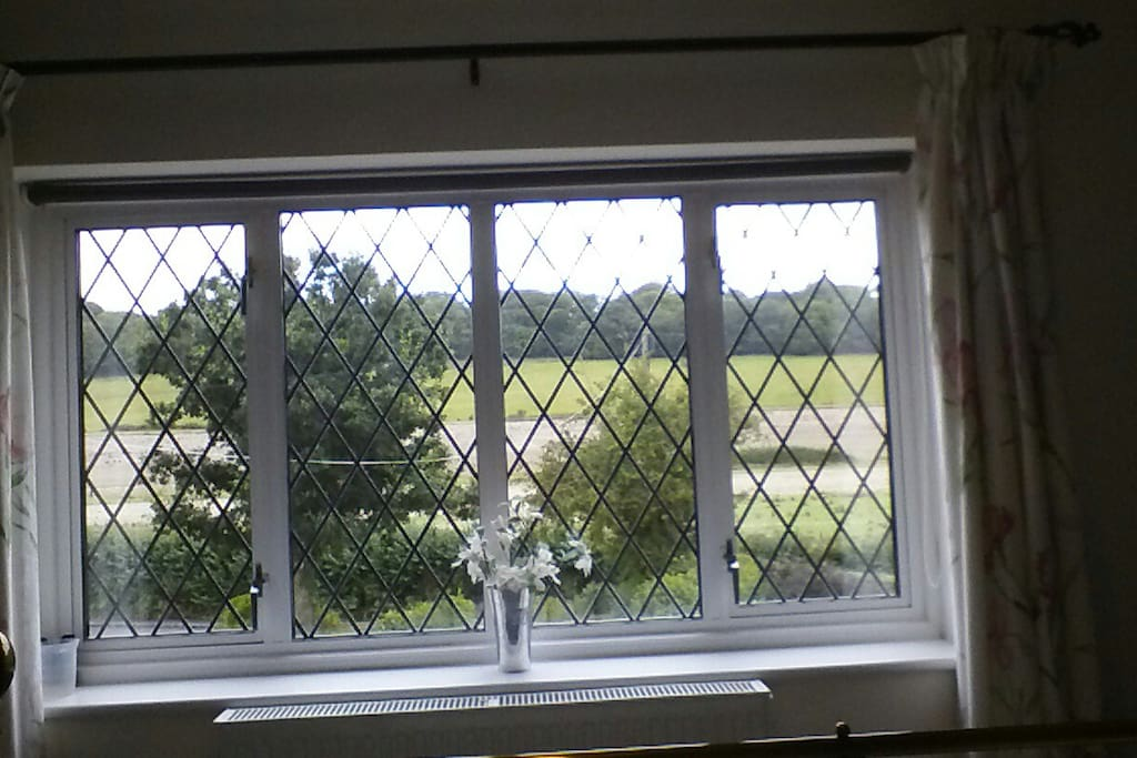 Fantastic views across Stansted Woods with walks to Stansted House, garden centre and tea rooms