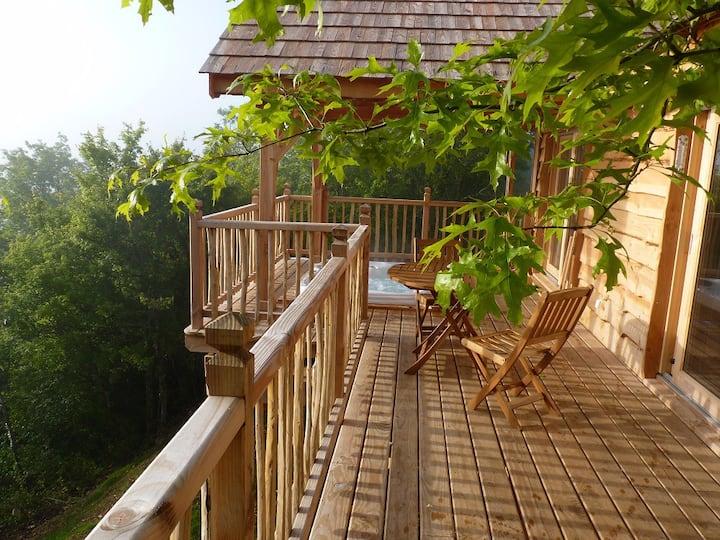 Cabane-spa dans le Périgord noir