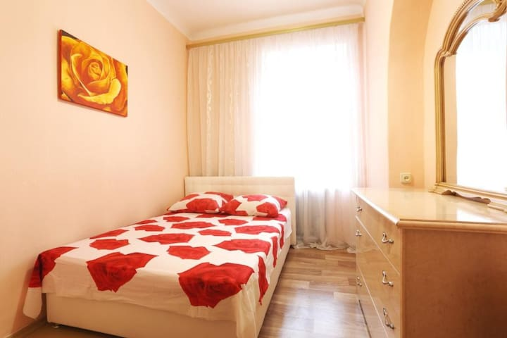 The apartment is located 5 min walk