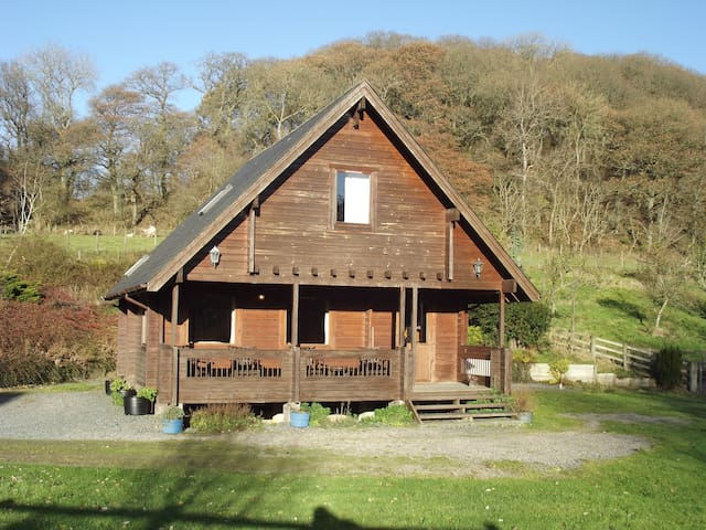 Fin Lodge with hot tub - Llangunllo - Cabin