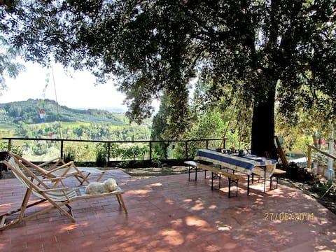 Prachtig uitzicht op Chianti Hills