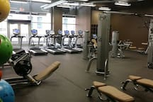Fully equipped gym, open 24/7.