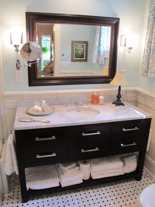 Restoration Hardware Carrera marble-top vanity