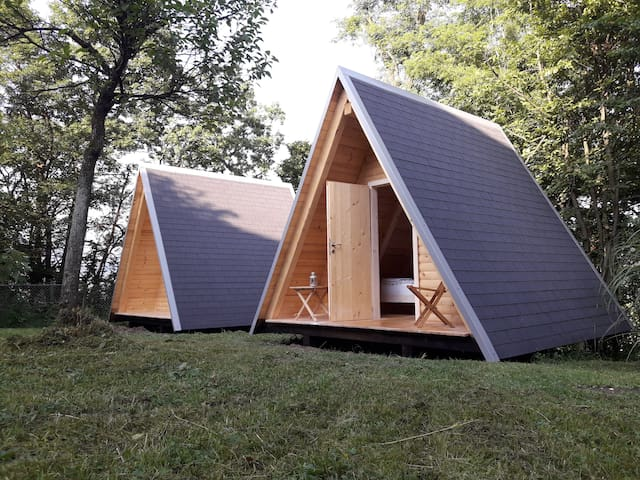 Wooden Camping Hut 1