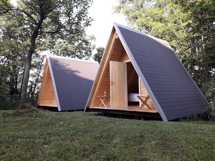 Wooden Camping Hut 2