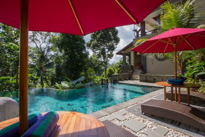 #1 Relaxing 1BR with jungle view at the iyang ubud