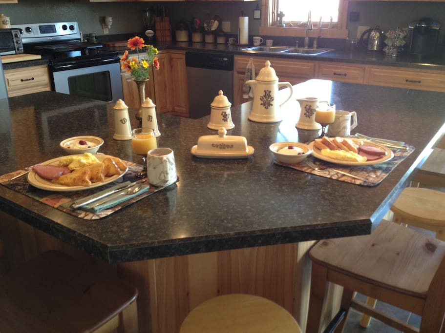 Our breakfasts feature homemade breads every morning