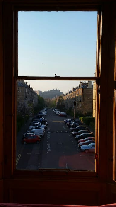 Best view of the Castle in Edinburgh from the sitting room!