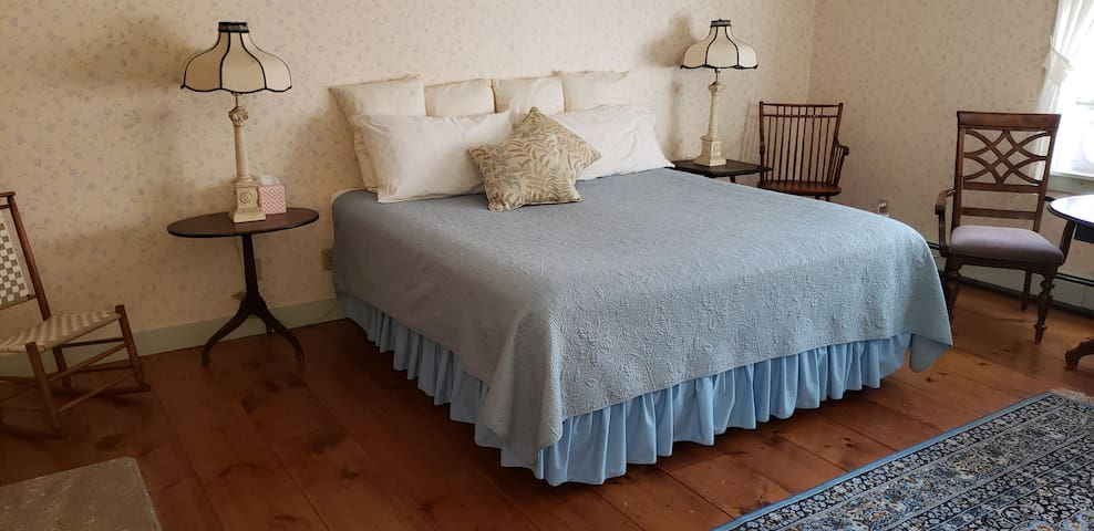 Huge room w/king bed and 2 twins, private bath.