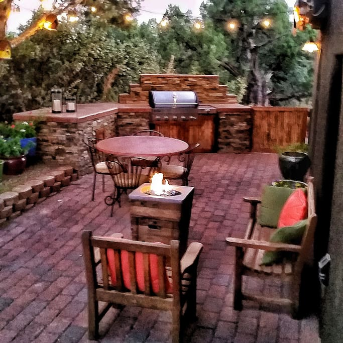 Evening at the fire pit