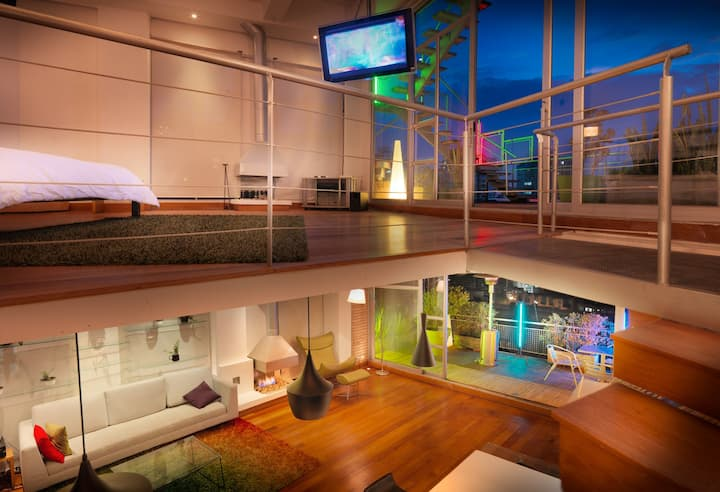 Beautiful duplex penthouse, jacuzzi