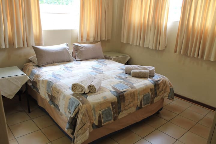 Queen Size Double Bed in Main Bedroom with On-Suite Bathroom