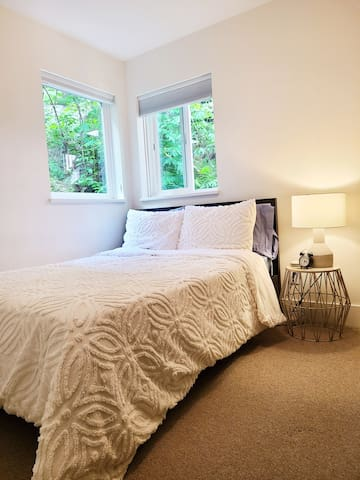 Full size bed in second bedroom