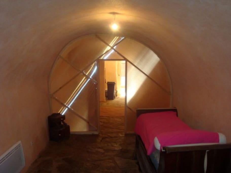 cave vue de l'escalier