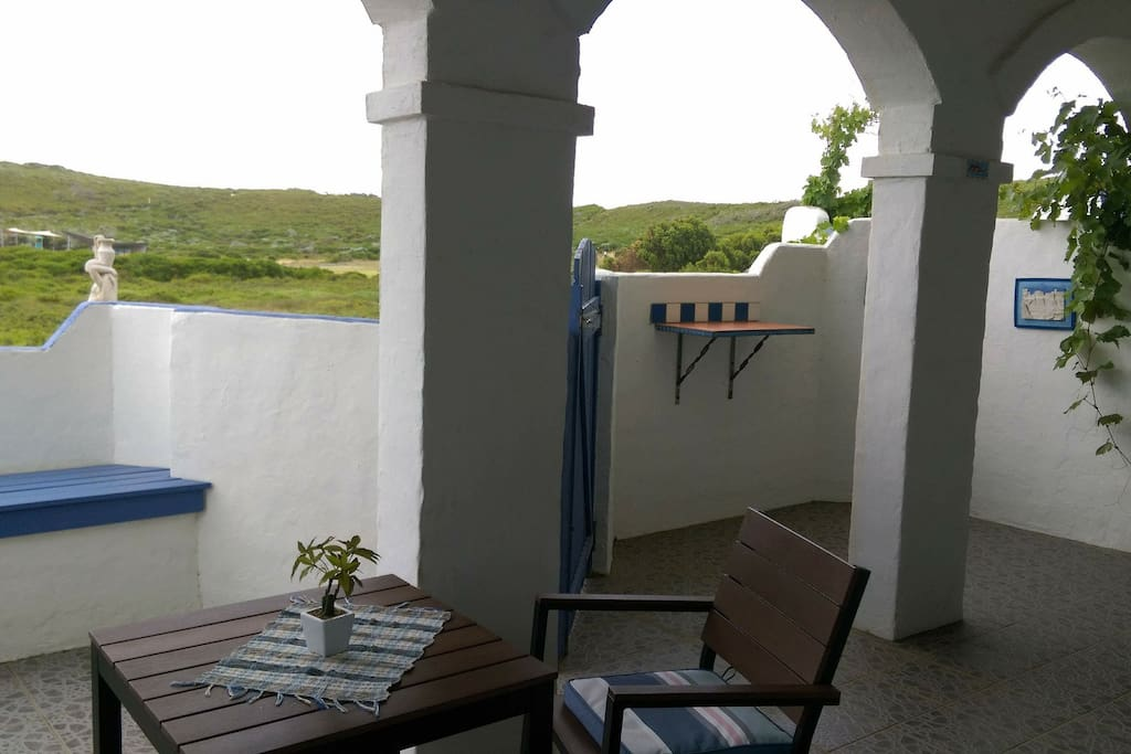 Mykonos enclosed courtyard