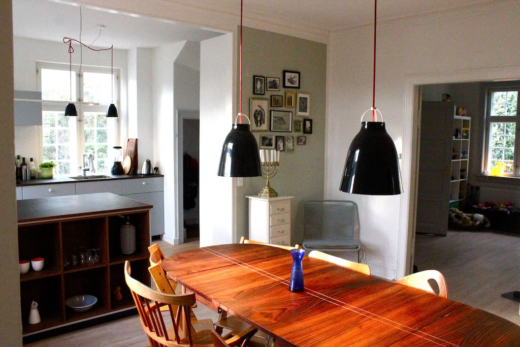 Open spaced kitchen with room for cosy dinners