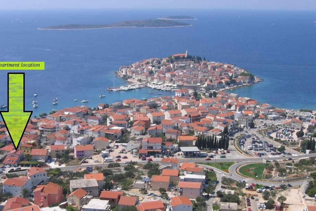 Panoramic View Of The Apartment, Primošten, Dalmatia, Croatia