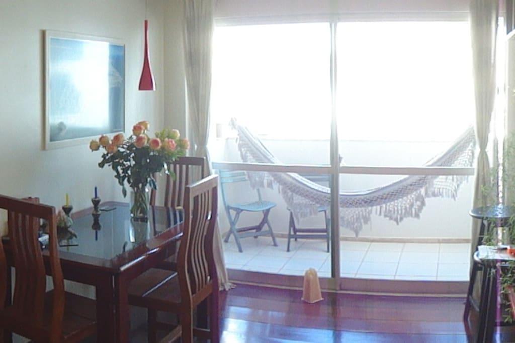Sitting room with veranda