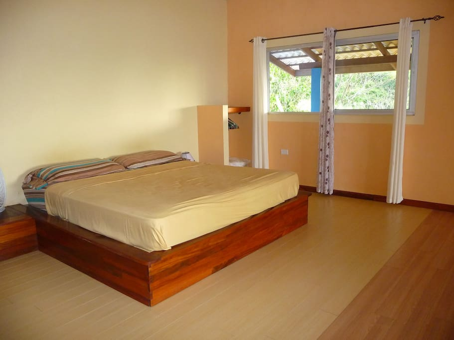 The Coco Bolo bedroom is the full top floor with a huge balcony overlooking the Caribbean sea