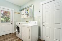 Convenient washer and dryer available on the main level.