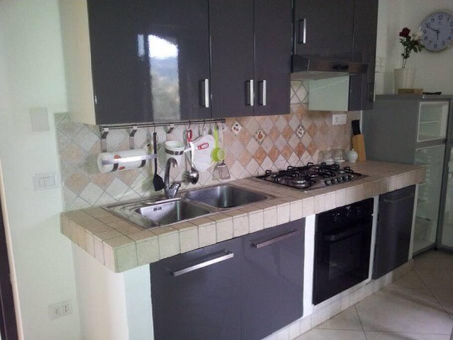 Cucina attrezzata in muratura