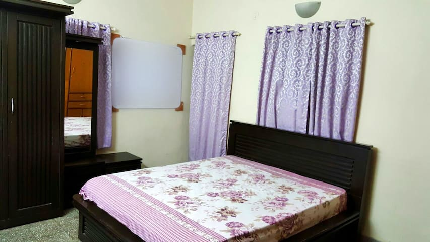 Private room with attached bathroom and balcony...
