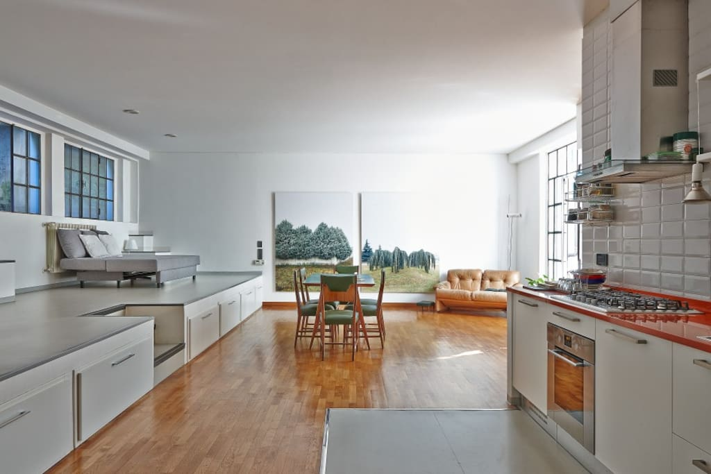 Open space - kitchen - dining - lounge