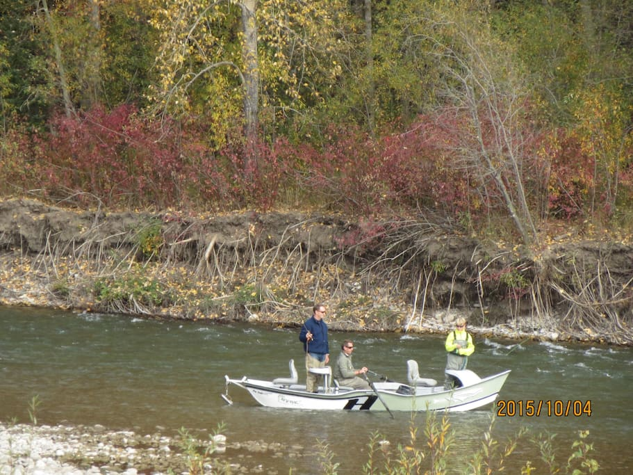 Fly fish in the Elk River just outside your front door. Yes, in the winter too!