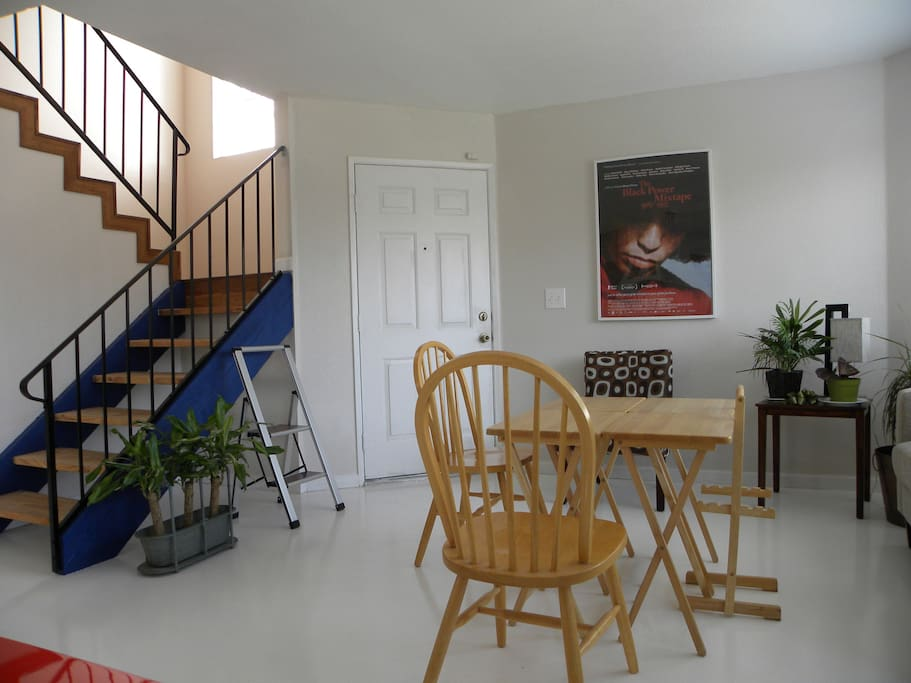 Open Space Living Room and Stairway Upstairs