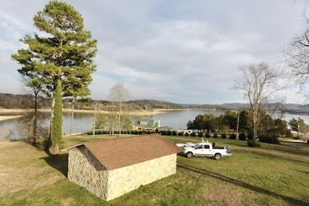 Tiny Home Lakefront Bunkhouse Cherokee Lake Dock